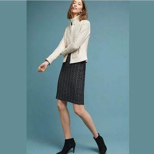 Anthropologie Maeve Samantha Knit Zip Back Skirt